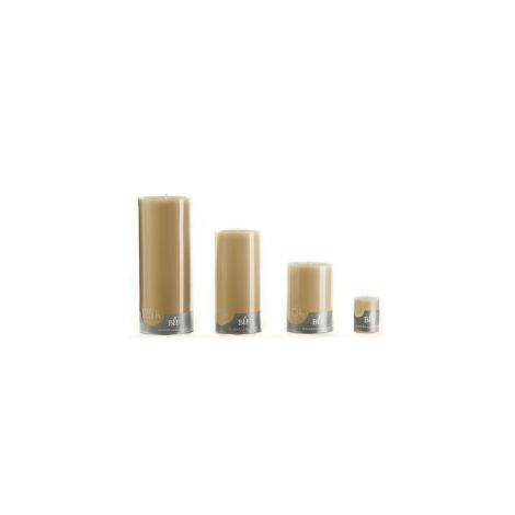 Image 4 - Bougie cylindrique ø7 x H15 cm taupe