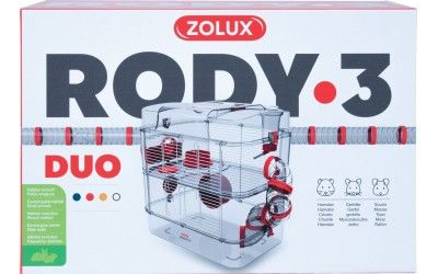 Image 2 - Cage Rongeur Rody3 duo rouge grenadine L.41 x l.27 x H.40,5 cm