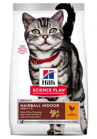 Image 1 - Croquettes Feline Adult Hairball Indoor Poulet 1,5 kg