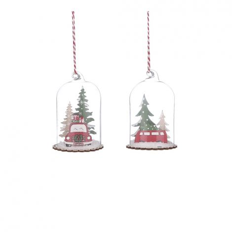 Image 1 - House of Seasons - Ornement Voiture Rouge - H.10 x Ø.7 cm