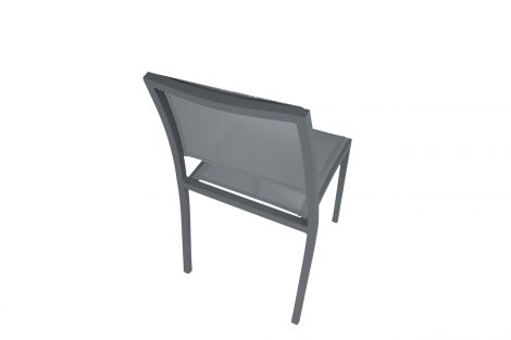 Image 4 - Chaise Haby Anthracite - L.56 x l.49 x H.83,5 cm