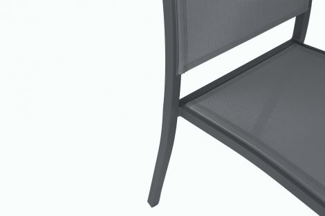 Image 5 - Chaise Haby Anthracite - L.56 x l.49 x H.83,5 cm