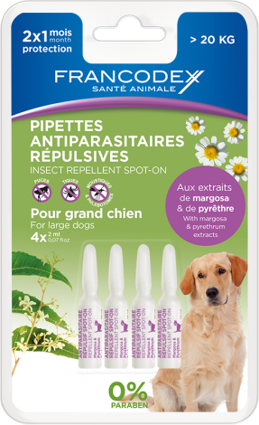 Image 1 - Pipettes antiparasitaires répulsives grand chien 4 pipettes 2 ml