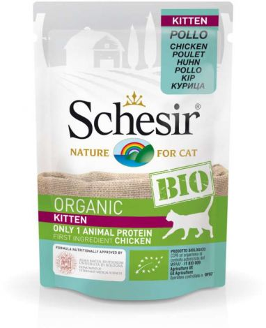 Image 1 - Schesir - Aliment bio pour chatons - Poulet 85g
