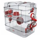 Cage Rongeur Rody3 duo rouge grenadine L.41 x l.27 x H.40,5 cm