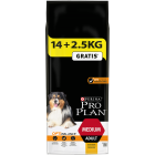 Pro Plan - Croquettes Dog Medium Adult 14 kg + 2,5 kg