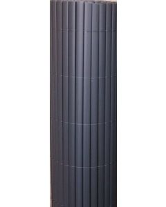 Canisse double face ovale anthracite L300 x H100 cm