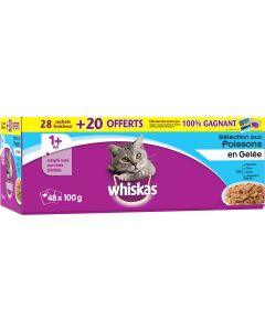 Whiskas sélection poissons. 28 sachets 100g + 20 offerts