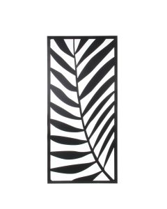 Decoration mure palm metal noir - L. 118 x b54 cm