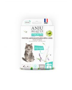 Anju - Pipette Insectifuge Ecosoin Bio pour chat x4