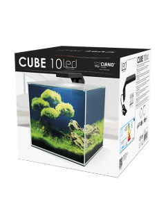 Aquarium cube 10 Clear Eur filtre + LED inclus 10 L