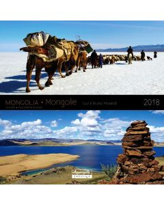 Calendrier 30 x 30 mongolie 2018