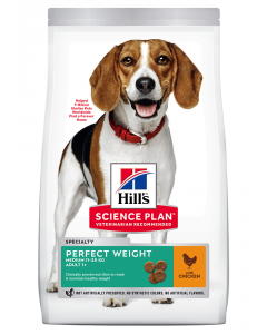 Croquettes Canine Adult Perfect Weight Medium Poulet 2 kg