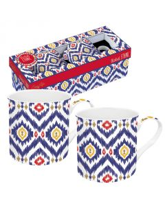 Coffret 2 mugs en porcelaine -  Global Ethnic