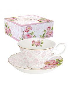 Coffret Tasse à thé en Bone China