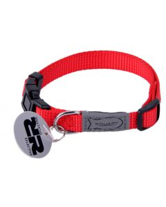 Collier Chat Basic Line Nylon Wouapy Rouge