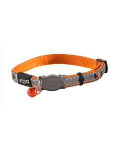 Collier orange réflechissant pour chat