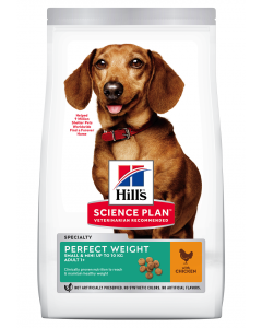 Croquettes Canine Adult Perfect Weight Small&Mini Poulet 1,5 kg