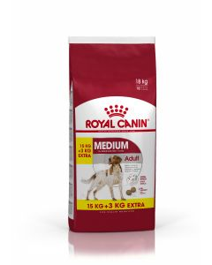 Croquettes Royal Canin Chien Medium Adult 15 kg + 3 kg offerts