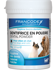 Dentifrice poudre chien chat 70 gr