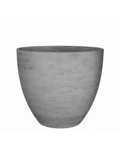 Echo pot ronde gris clair - H. 39,5 x D. 45 cm