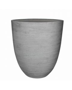Echo pot ronde gris clair - H. 50 x D. 45 cm