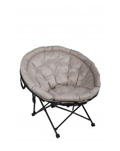 "Fauteuil ""Pearl"" taupe D105 x l70 x H93 cm"