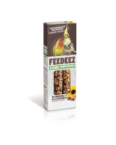 Feedeez - Sticks grandes perruches tournesol/cacahuète 115g