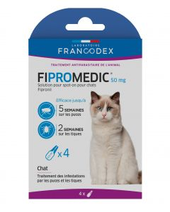 Fipromedic 50 mg solution pour spot-on pour chats x4