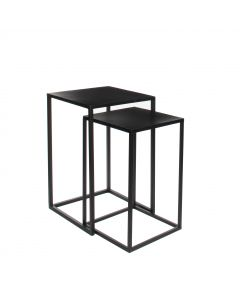 Goa table noir - L. 30 x B. 30 x H. 48,5 cm