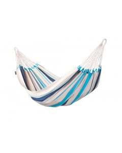 Hamac classique simple en coton - Caribeña Aqua Blue