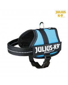 Harnais Power Julius-K9, Baby 2/XS-S: 33-45cm/18mm, aigue-marine