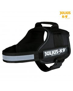 Harnais Power Julius-K9®, 0/M–L: 58–76 cm/40 mm, noir