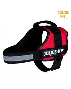 Harnais Power Julius-K9®, 0/M–L: 58–76 cm/40 mm, rouge