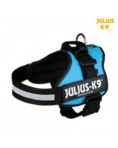 Harnais Power Julius-K9®, 1/L: 66–85 cm/50 mm, aigue-marine