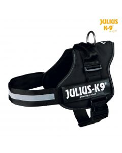 Harnais Power Julius-K9®, 1/L: 66–85 cm/50 mm, noir