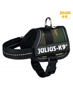 Harnais Power Julius-K9®, Baby 1/XS: 30–40 cm/18 mm, camouflage