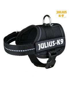Harnais Power Julius-K9®, Baby 1/XS: 30–40 cm/18 mm, noir