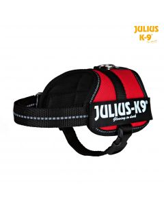 Harnais Power Julius-K9®, Baby 2/XS–S: 33–45 cm/18 mm, rouge