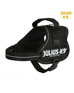 Harnais Power Julius-K9®, Mini-Mini/S: 40–53 cm/22 mm, noir
