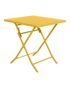 Hesperide - Table Greensboro carrée moutarde L70 x l70 x H71 cm