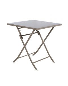 Hesperide - Table Greensboro carrée taupe - L.70 x l.70 x H.71 cm