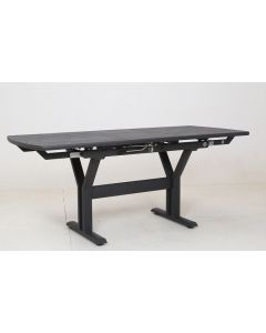 L'Estivalier - Table extensible Twiggy anthracite - L.140/185 cm