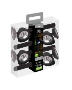 Lot de 4 spots solaires Prima Carry pack - 3 lumens