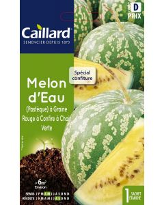 Melon  D'Eau(Pastèque) A Graine Rouge A Confire A Chair Verte