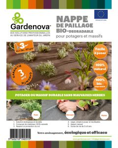 Nappe de paillage Biodégradable -  1m x 3m