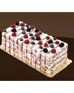 Part de cake au nougat saveurs fruits rouges - 150 g