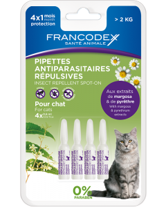 Pipettes Antiparasitaires Repulsives Ct 4X0,6Ml Frx