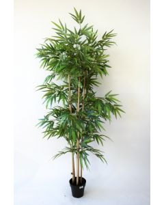 Pot bambou cannes artificiel 180Cm