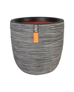 Pot Oeuf strié Anthracite Ø43 x H.41 cm